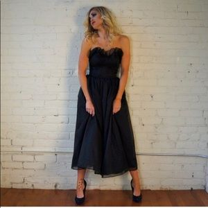 Vintage Gunne Sax Bustier Dress Gothic Witchy Poo